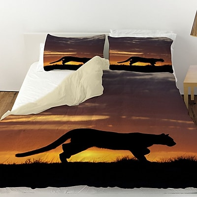 Manual Woodworkers & Weavers Cougar Silhouette Duvet Cover; Queen
