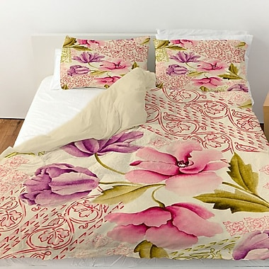 Manual Woodworkers & Weavers Tulips and Lace Duvet Cover; Queen