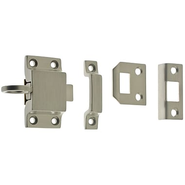 idh by St. Simons Solid Brass Curtain Transom Catch; Satin Nickel