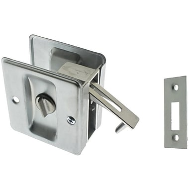 idh by St. Simons Solid Brass Pocket Privacy Pull; Satin Chrome