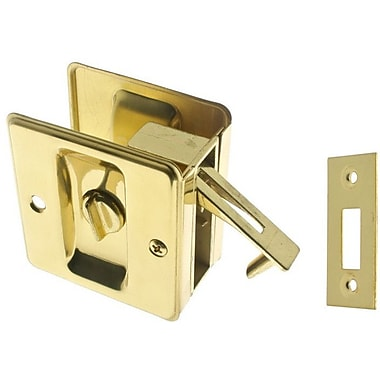 idh by St. Simons Solid Brass Pocket Privacy Pull; Polished Brass