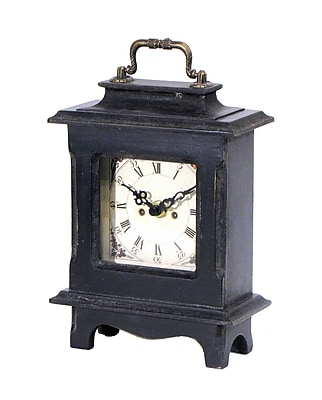 Wilco Home Smokey Cabin Table Clock