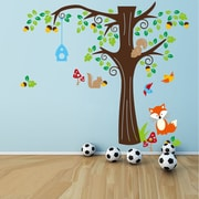 RetailSource Tree Full of Life and Friends Wall Decal; 12'' H x 36'' W