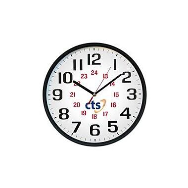 Staples – Horloge murale 24 heures de 12 po (Q1224)