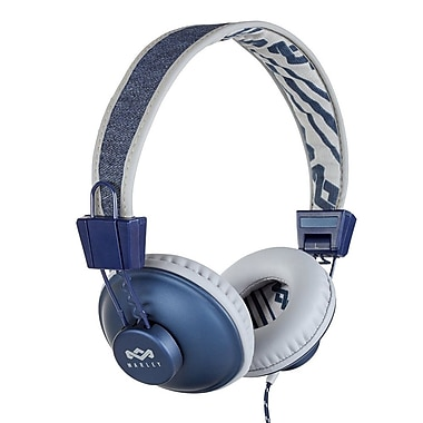 House of Marley – Casque d'écoute à port sur oreille Positive Vibration EM-JH011-DN, denim