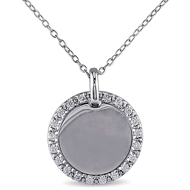 Allegro STP000281, Cubic Zirconia Pendant with Chain in Sterling Silver, 18