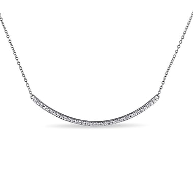 Allegro STP000286, White Topaz Necklace in Sterling Silver, 17