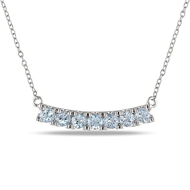 Allegro STP000315, Blue Topaz Linear Necklace in Sterling Silver, 19