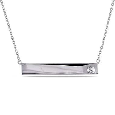 Allegro STP000317, White sappahire Linear Necklace in Sterling Silver, 17