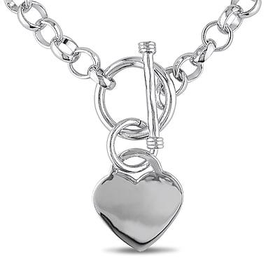 Allegro - Collier à breloques en forme de cœur en argent sterling, STP000403, 18 po