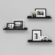 "nexxt FN00298-3INT 3 Edge 23"" x 4"" Picture Frame Ledge, Black, 3/Pack"
