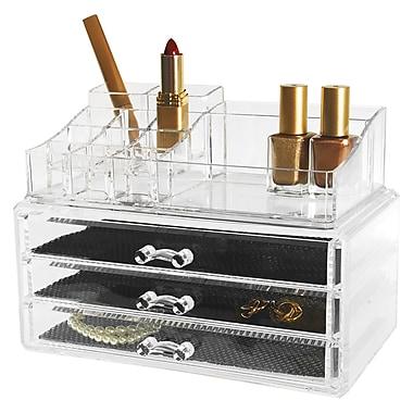 Kiera Grace – Ensemble de 2 range-tout pour bijoux et cosmétiques HO87547-1INT, 14 compartiments et 3 tiroirs