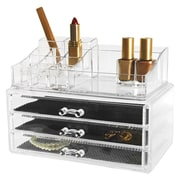 Kiera Grace HO87547-1INT 2-Pack Cosmetic and Jewellery Organizer, 14 compartment and 3 drawers