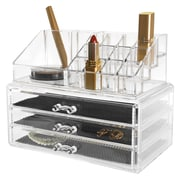 Kiera Grace HO87548-8INT 2-Pack Cosmetic and Jewellery Organizer, 16 compartment and 3 drawers