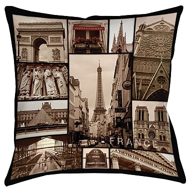 Manual Woodworkers & Weavers France Printed Throw Pillow; 18'' H x 18'' W x 5'' D