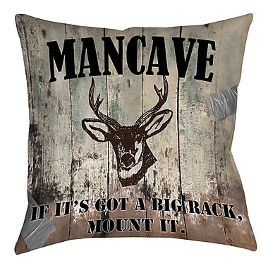 Manual Woodworkers & Weavers Mancave II Printed Throw Pillow; 26'' H x 26'' W x 7'' D