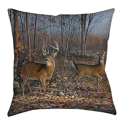 Manual Woodworkers & Weavers Lovers Lane Indoor/Outdoor Throw Pillow; 20'' H x 20'' W x 5'' D