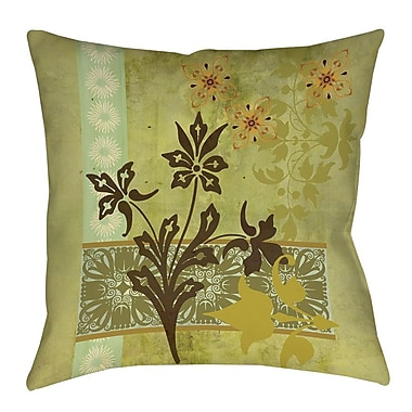 Manual Woodworkers & Weavers Collage Blossoms Printed Throw Pillow; 26'' H x 26'' W x 7'' D