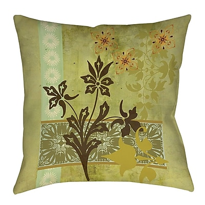 Manual Woodworkers & Weavers Collage Blossoms Printed Throw Pillow; 18'' H x 18'' W x 5'' D