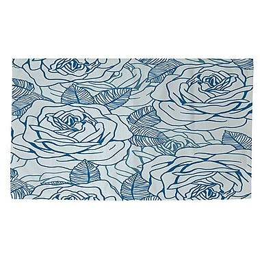 Manual Woodworkers & Weavers Rose Tonic Blue/White Area Rug; 2' x 3'