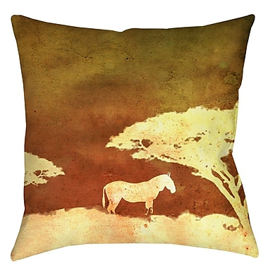 Manual Woodworkers & Weavers Safari Sunrise 3 Printed Throw Pillow; 16'' H x 16'' W x 4'' D
