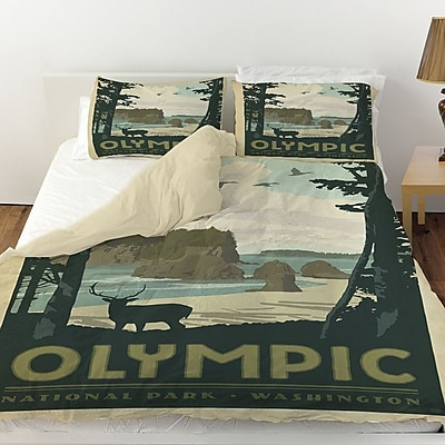 Manual Woodworkers & Weavers Olympic Duvet Cover; Queen