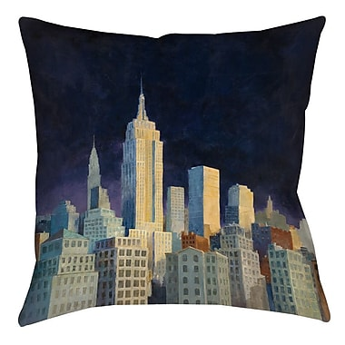Manual Woodworkers & Weavers Midnight in Midtown Printed Throw Pillow; 16'' H x 16'' W x 4'' D