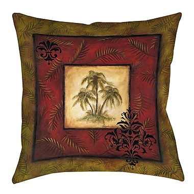 Manual Woodworkers & Weavers Palm Breezes Printed Throw Pillow; 16'' H x 16'' W x 4'' D