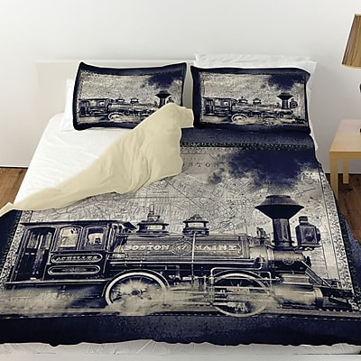 Manual Woodworkers & Weavers Railway Beantown Duvet Cover; King