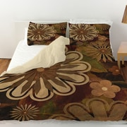Manual Woodworkers & Weavers Floral Abstract I Duvet Cover; Twin