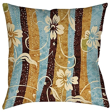 Manual Woodworkers & Weavers Floral Study in Stripes Printed Throw Pillow; 26'' H x 26'' W x 7'' D