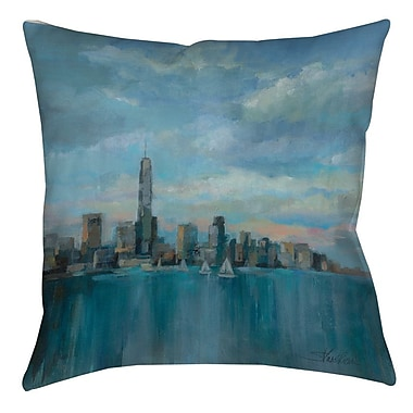 Manual Woodworkers & Weavers Manhattan Tower of Hope Printed Throw Pillow; 16'' H x 16'' W x 4'' D