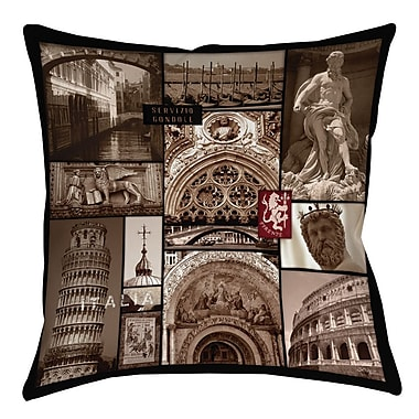 Manual Woodworkers & Weavers Italy Printed Throw Pillow; 26'' H x 26'' W x 7'' D
