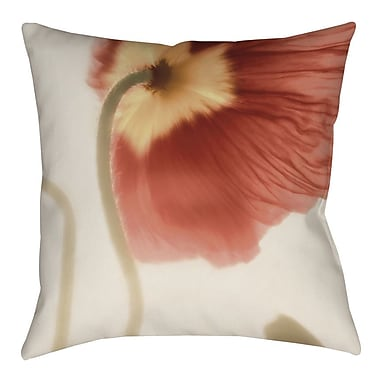 Manual Woodworkers & Weavers Mystic Poppy 2 Printed Throw Pillow; 18'' H x 18'' W x 5'' D
