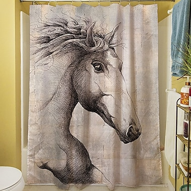Manual Woodworkers & Weavers Run w/ the Wind Shower Curtain