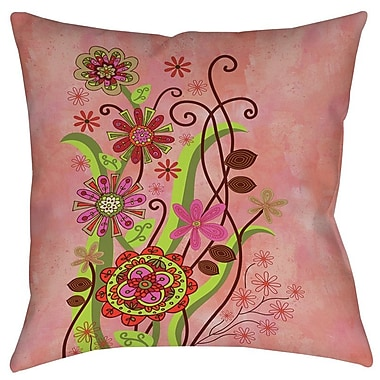 Manual Woodworkers & Weavers Flower Power Stems Printed Throw Pillow; 18'' H x 18'' W x 5'' D
