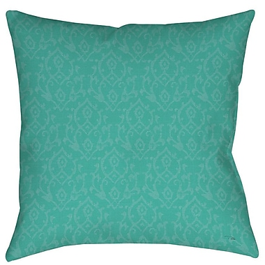 Manual Woodworkers & Weavers Flowing Damask Indoor/Outdoor Throw Pillow; 18'' H x 18'' W x 5'' D