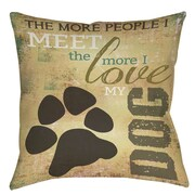 Manual Woodworkers & Weavers People vs Dog Printed Throw Pillow; 14'' H x 14'' W x 3'' D