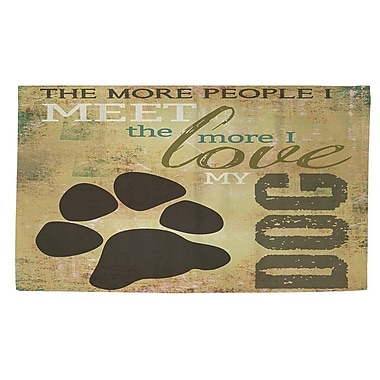 Manual Woodworkers & Weavers People vs Dog Area Rug; 2' x 3'