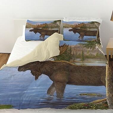 Manual Woodworkers & Weavers Majestic Moose Duvet Cover; Twin