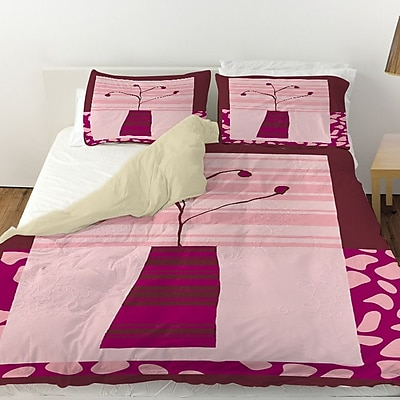 Manual Woodworkers & Weavers Minimalist Flowers 4 Duvet Cover; Twin
