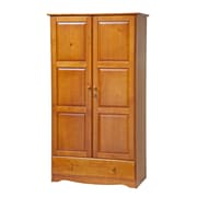 PalaceImports Universal Armoire; Honey Pine