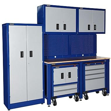 International 7' H x 8' W x 2' D 9-Piece Garage Storage System; Blue