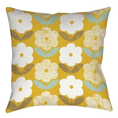 Manual Woodworkers & Weavers Jar of Sunshine Vintage Printed Throw Pillow; 16'' H x 16'' W x 4'' D