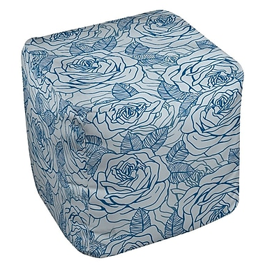 Manual Woodworkers & Weavers Rose Tonic Ottoman