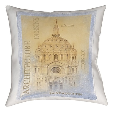 Manual Woodworkers & Weavers L'Eglise Printed Throw Pillow; 16'' H x 16'' W x 4'' D