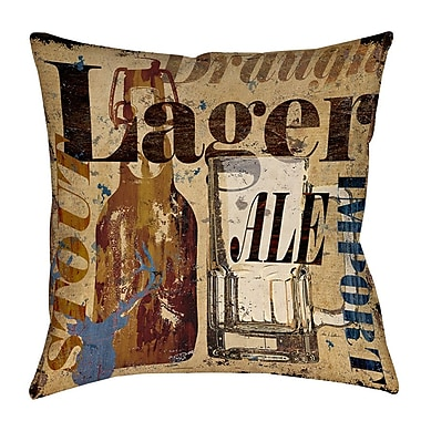 Manual Woodworkers & Weavers Old Lager Printed Throw Pillow; 26'' H x 26'' W x 7'' D