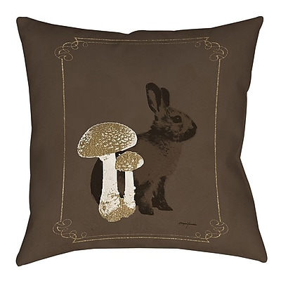 Manual Woodworkers & Weavers Luxury Lodge Rabbit Printed Throw Pillow; 20'' H x 20'' W x 5'' D