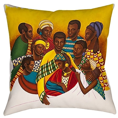 Manual Woodworkers & Weavers Family Photo Printed Throw Pillow; 18'' H x 18'' W x 5'' D