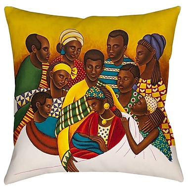 Manual Woodworkers & Weavers Family Photo Indoor/Outdoor Throw Pillow; 20'' H x 20'' W x 5'' D